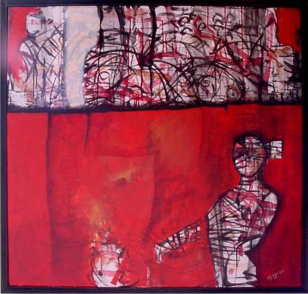Annette Sieger - Red Dawn _ acryl 110 x100
